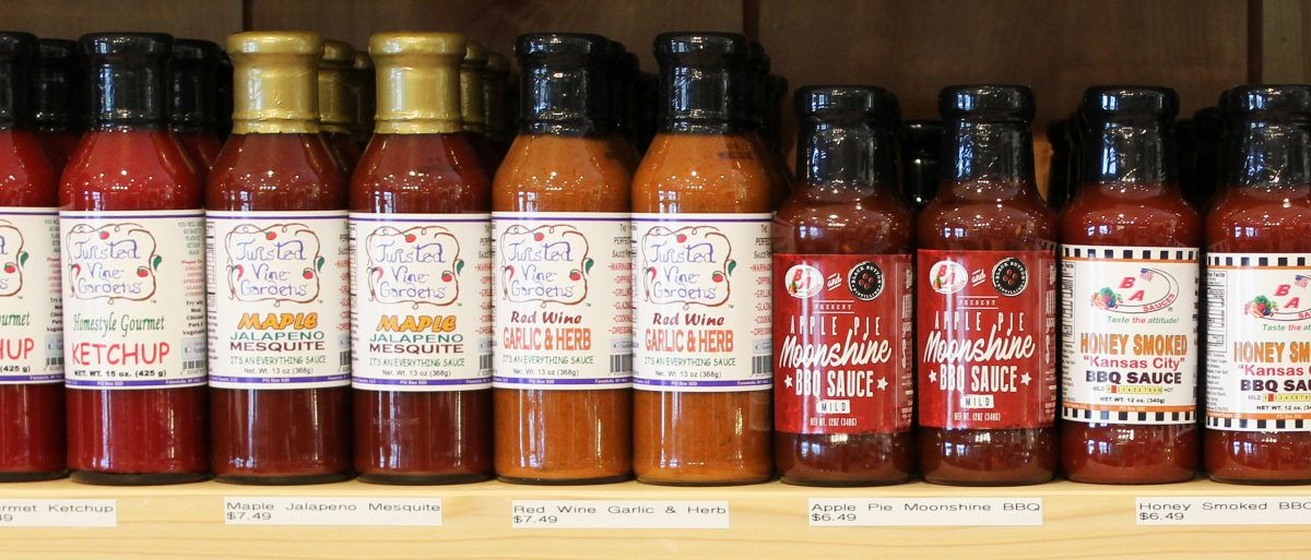 Sauces on Shelf